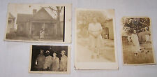 4 ANTIQUE PHOTOS-1 MILITARY-2 RPPC-REAL PHOTO POSTCARDS-1 SNAP SHOT-AFRICAN AMER