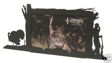 Wild Turkey hunting black metal 4x6H picture frame