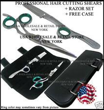 HAIR CUTTING SHEARS RAZOR SET BARBERS HAIR DRESSER USA