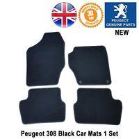 Peugeot 308 Car Mats Carpet Floor Front Rear Black Plain Genuine 4pc set New