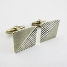 Vintage 9CT on SILVER Square Shape Bullet Back Cufflinks
