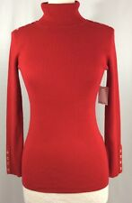 Calvin Klein Red Turtleneck Sweater Size Small S Ribbed Long Sleeve NWT