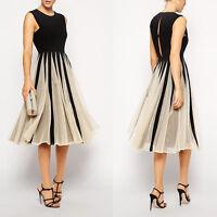 Damen Frauen Chiffon Maxikleid Kleid Partykleid spleißCocktailkleid lang Dress;