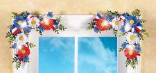 July 4th Lighted Floral Patriotic Decorations Daisy Door Window Corner Set 12x12