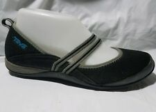 Teva Mary Jane Shoe Ballet Flats Slip On Black Gray Blue Women 6.5 M Casual 4190