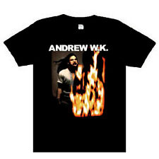 Andrew WK - Fire Eyes Music punk rock t-shirt    NEW