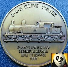 Railway History Bronze Medal Coin 2-4-2 Side Tank Locomotive Relief Details
