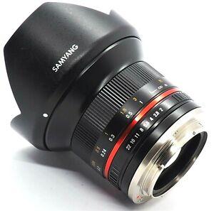 AS NEW Samyang 12mm f2.0 NCS CS Sony E-Mount APS-C wide angle lens + Hoya Filter