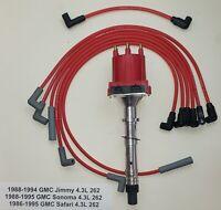 GMC 4.3L 262 1986-1995 V6 EFI/ TPI / TBI DISTRIBUTOR + PLUG WIRES  JIMMY SONOMA