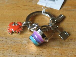 Coach Beach Multi mix keyfob key ring #93168
