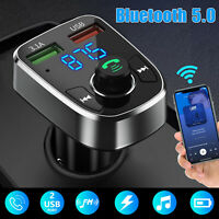 Bluetooth Car Kit FM Transmitter Charger Hands free MP3 Radio Dual USB Adapter