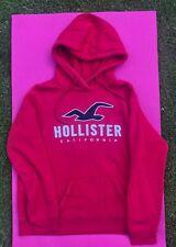 Hollister Womens Hoody Size Medium Red