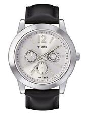 Timex Classic Men's Watch (Leather Wrist Band Black Face Silver) t2m809