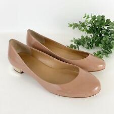 J. Crew Factort Lily Metallic Pink Patent Leather Round Toe Ballet Flats Size 8