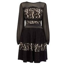 BNWT COAST BLACK & NUDE DELPHINA LACE DRESS SIZE 10 RRP £139