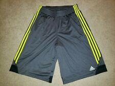 Adidas Athletic Shorts Mens Adult Medium M Long Large L Gray Neon Basketball