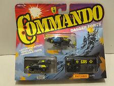 Matchbox Commando Dagger Force 3 Pc.Play Set in Matt Black Color  NIB W.W. Ship