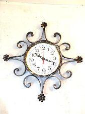 Horloge murale à quartz fer forgé auburn