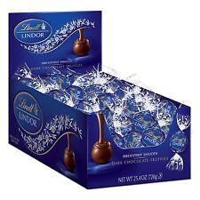 Lindt LINDOR Dark Chocolate Truffles 60 Count Box