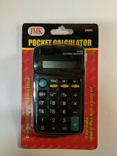 6 pack Wholesale Bulk Lot Dual-Power Pocket Handheld Calculators Solar Battery