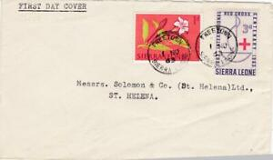 ST HELENA 3 COVERS  INCL INCOMING MAIL UK AND SIERRA LEONE 1963-5