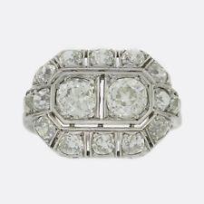 Art Deco 3.08 Carat Diamond Ring Platinum