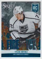 TYLER TOFFOLI 2013-14 Panini Select Blue Fire on Ice Rookie #FR-17 Kings  N14