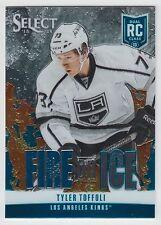 TYLER TOFFOLI 2013-14 Panini Select Blue Fire on Ice Rookie #FR-17 Kings  N14