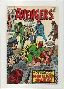 Avengers 81 VF/NM 9.0 Wandavision Black Panther Sliver/Bronze Age Superhero 1970