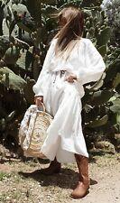 BNWT H&M WHITE LONG COTTON MAXI KAFTAN DRESS Small Sold Out Blogger Boho