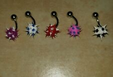 LOT OF 5 KOOSH BALL SPIKEY TICKLER NAVEL RING BELLY BUTTON PIERCING JEWELRY RARE