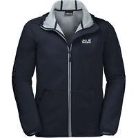Jack Wolfskin Essential Peak Jacket Hooded Navy Coat 1305821 1010 M