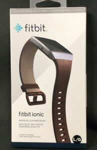 Fitbit Ionic Cognac Brown Premium Leather Band L *Tracker NOT Included* NEW