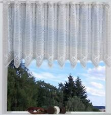 1 St SCHEIBENGARDINE 220 / 250 x 30 WEIß von VHG PANNEAUX STANGENDURCHZUG NEU *