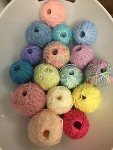 425g Acrylic Yarn Unused Remnants Plain And Variegated Balls Of Assorted Colour