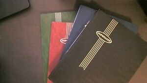 Lot of 4 Stock Page books by Supersafe empty, No stamps Used Nice