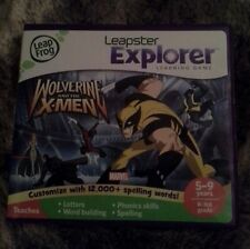 LEAP FROG LEAPSTER LEAP PAD EXPLORER GAME WOLVERINE & THE X-MEN AGES 5-9  CASE