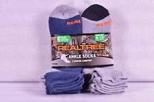 Men's Realtree Cushion Comfort Ankle Socks, Grey & Blue - 6 Pairs