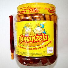 Tamanzela Banderilla Tamarindo flavor w/salt & chili 40-pcs on jar 1lb-8oz