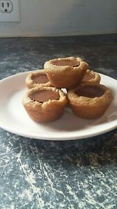 2 DZ GOURMET REESES PEANUT BUTTER CUP COOKIES DELICIOUSLY HOMEMADE TO ORDER!