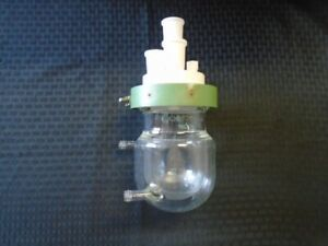 CHEMGLASS 300mL Glass Jacketed Reaction Vessel Body Lid And Clamp CG-1926