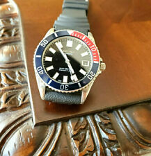 "SEIKO ""CRYSTAL PEPSI"" DATE DIAL AUTOMATIC 150M Red Blue Black Watch 7S26-0050"