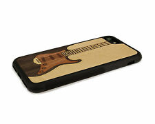 Handcrafted Wood iPhone 6 Case with Soft Rubber Sides by Nuwoods Electric Guitar