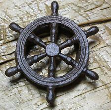 Cast Iron Antique Style SHIPS WHEEL Door Knocker NAUTICAL PIRATE Brown Finish