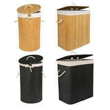 Cesto para ropa sucia cesta lavandería hogar Bambú ecológica natural colada bin
