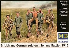 """WWI 1/35 """"British and German Soldiers, Somme Battle 1916"""" 6 Figure Set Model Kit"""