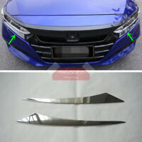 2X S.Steel Chrome Front Light Eyelid Trim for Honda Accord Sedan 2018-2021
