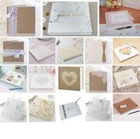 Wedding Guest Book  22 Designs  Celebration Party Book Keepsake in Box