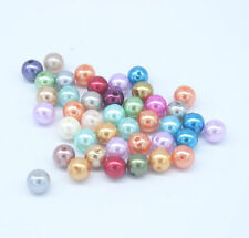 100 Mixed colours Acrylic Pearl Imitation Spacer Beads Ball Round 8mm Dia. L001