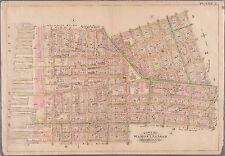 1886 DOWNTOWN BROOKLYN NEW YORK, CITY HALL TILLARY ST TO AMITY ST ATLAS MAP